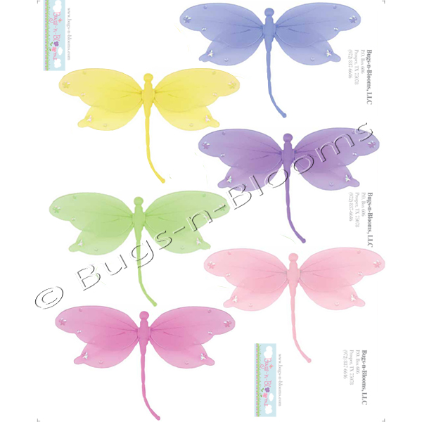 Dragonfly wall stickers girls kids room baby nursery room for Dragonfly mural