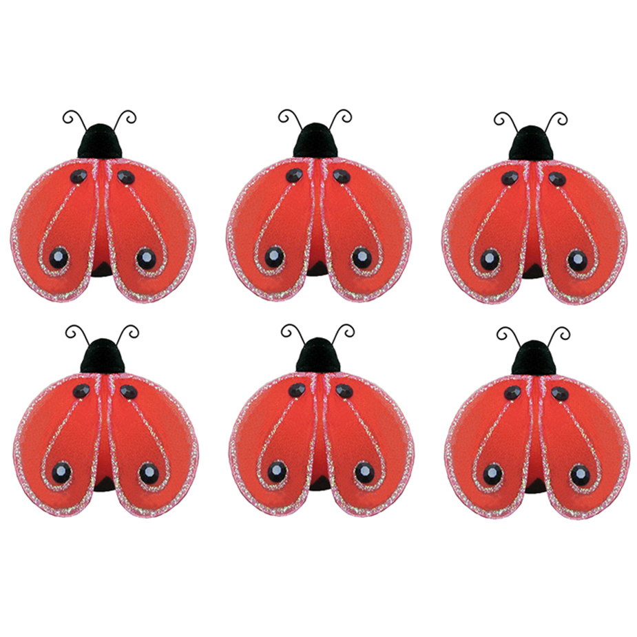 Details about Mini Red Ladybugs Small Lady Bug Decorations Craft Party ...