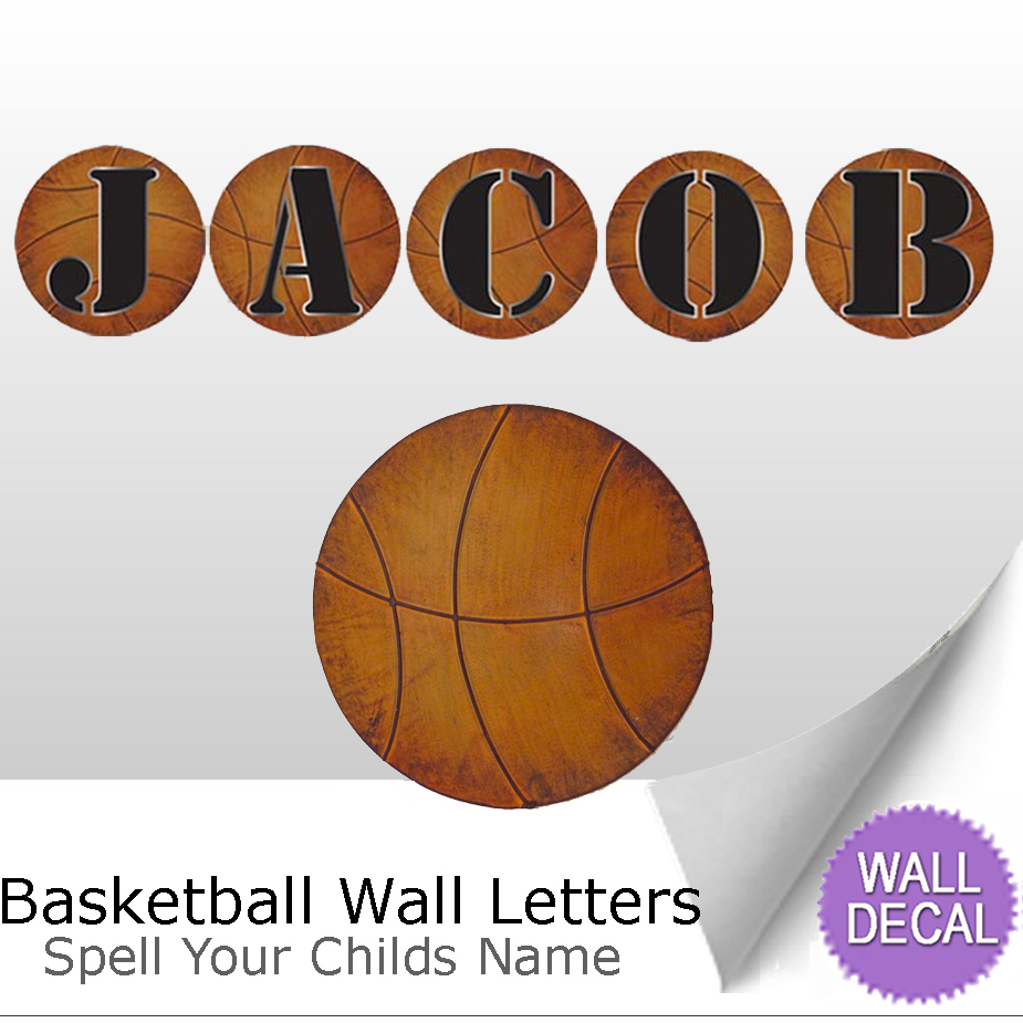 wall letter alphabet initial sticker vinyl stickers decal