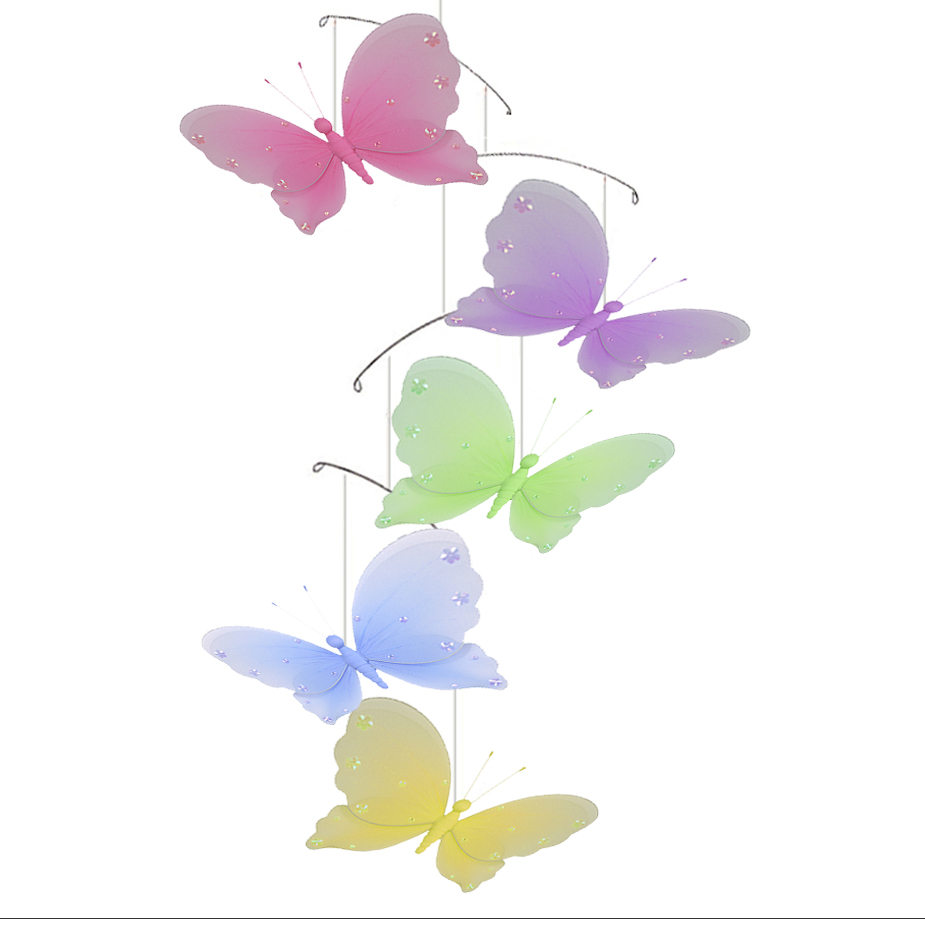 Butterfly Mobile Pink Blue Nursery Mobile On Luulla