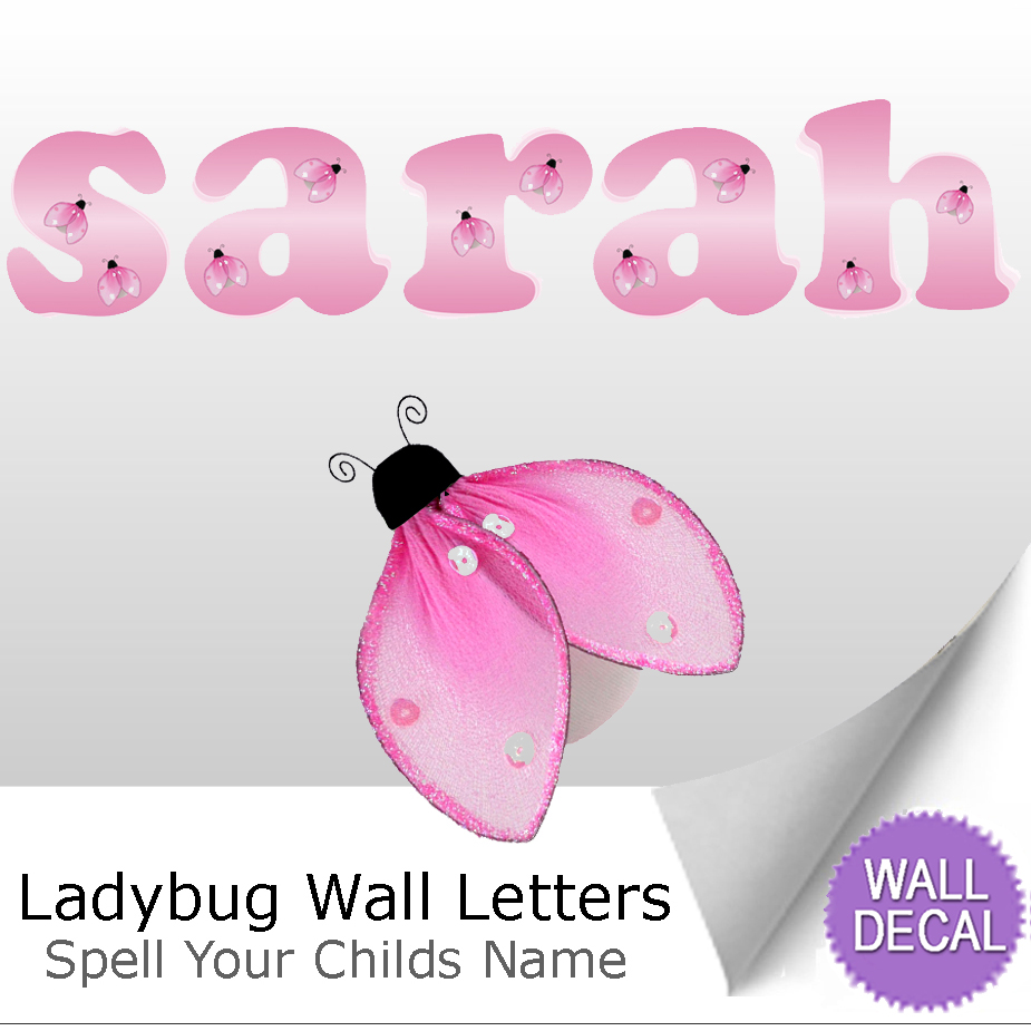 Ladybug Name Wall Letter Stickers Part 95