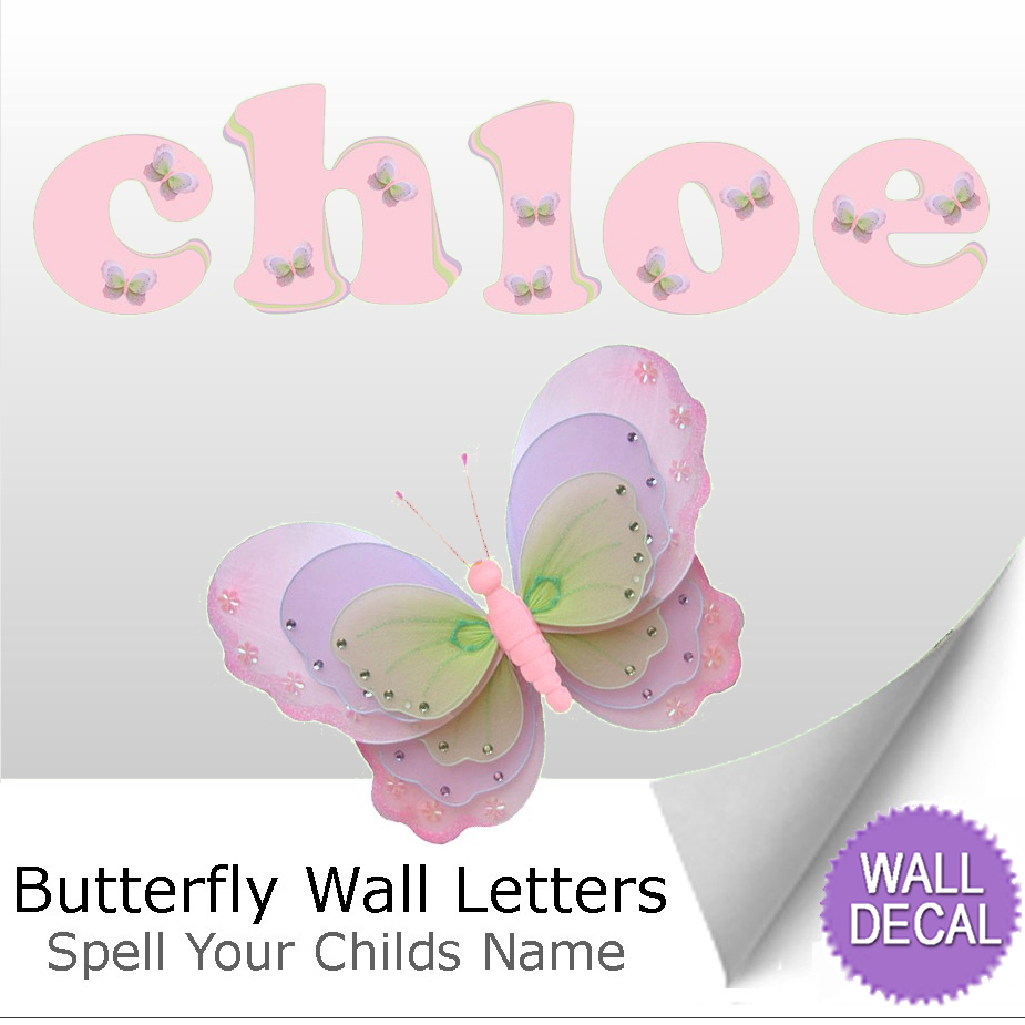 name wall letters alphabet stickers decals girls decor