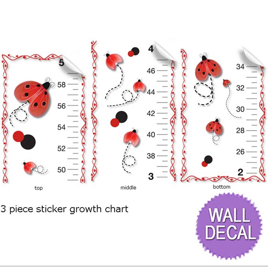 growth chart red black ladybug measure height ladybugs kids wall bugs n blooms exclusive girls growth chart wall stickers are to keep track of your child s growth and at the same time match our beautiful wall ceiling