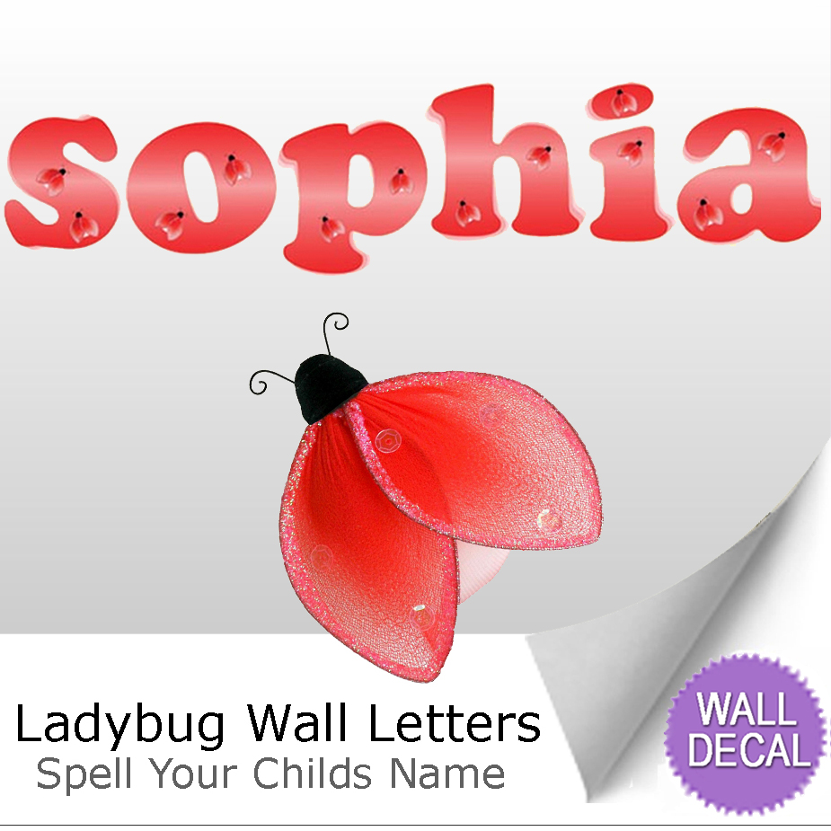 letter name wall sticker baby nursery girls room decor cartoon letters wall stickers