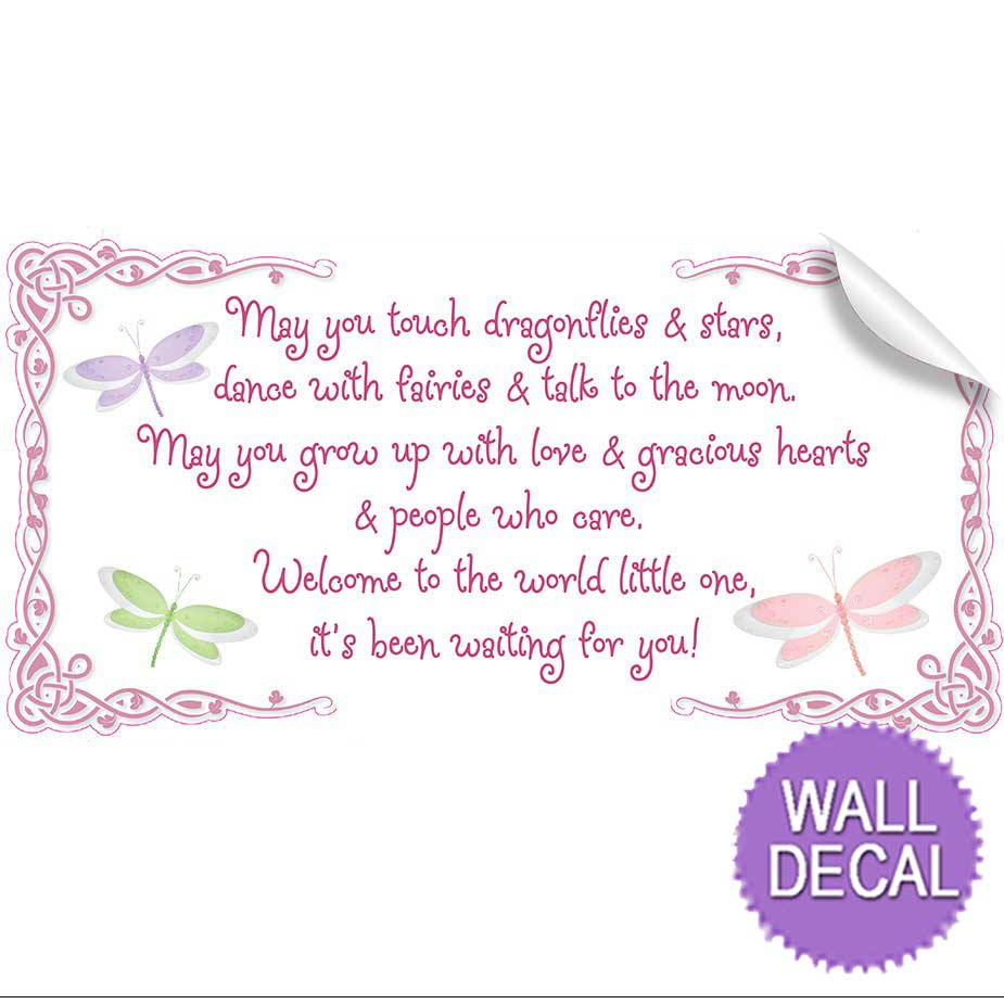 may you touch dragonflies stars fairies quote wall vinyl stickers vinyl wall saying quote stickers for kids rooms