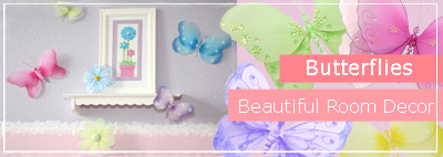 Butterfly Bedroom & Nursery Decorations