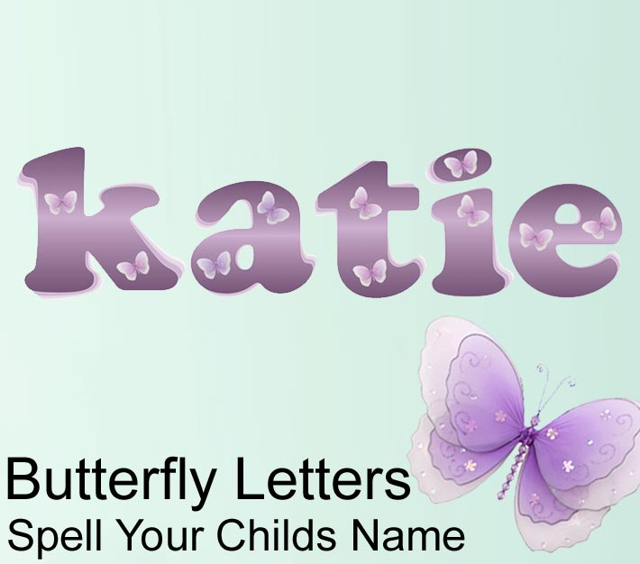 Butterfly Name Wall Letter Stickers