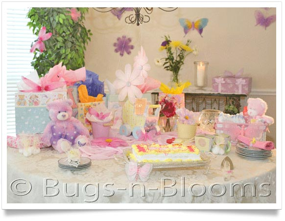 decorate a baby shower party decorations bugs n blooms