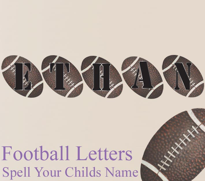 Football Name Wall Letter Stickers