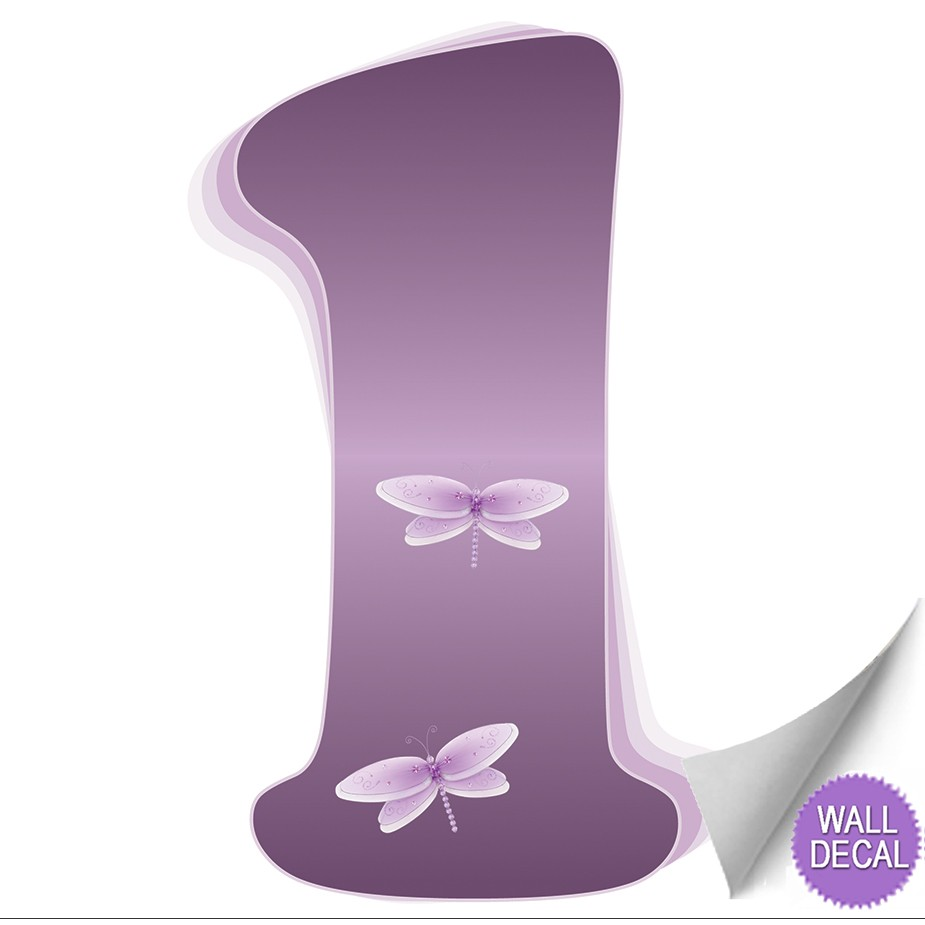 wall letter alphabet initial sticker vinyl stickers decals name purple dragonfly. Black Bedroom Furniture Sets. Home Design Ideas