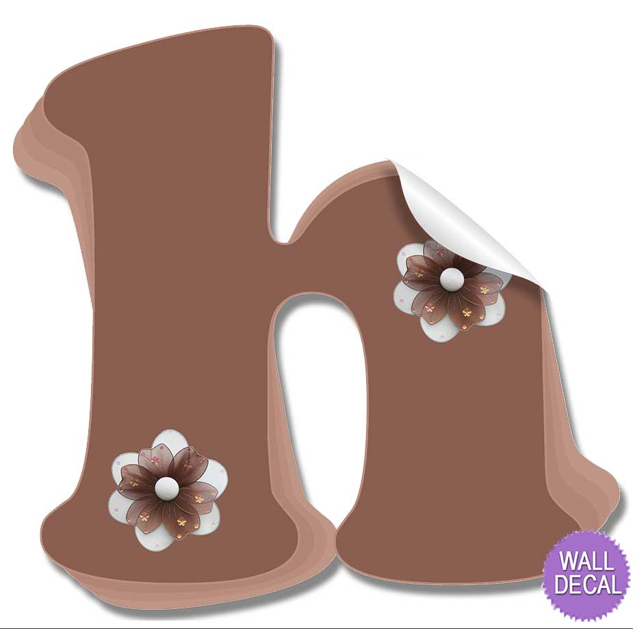 wall letter alphabet initial sticker vinyl stickers decals name click to view g click to view h