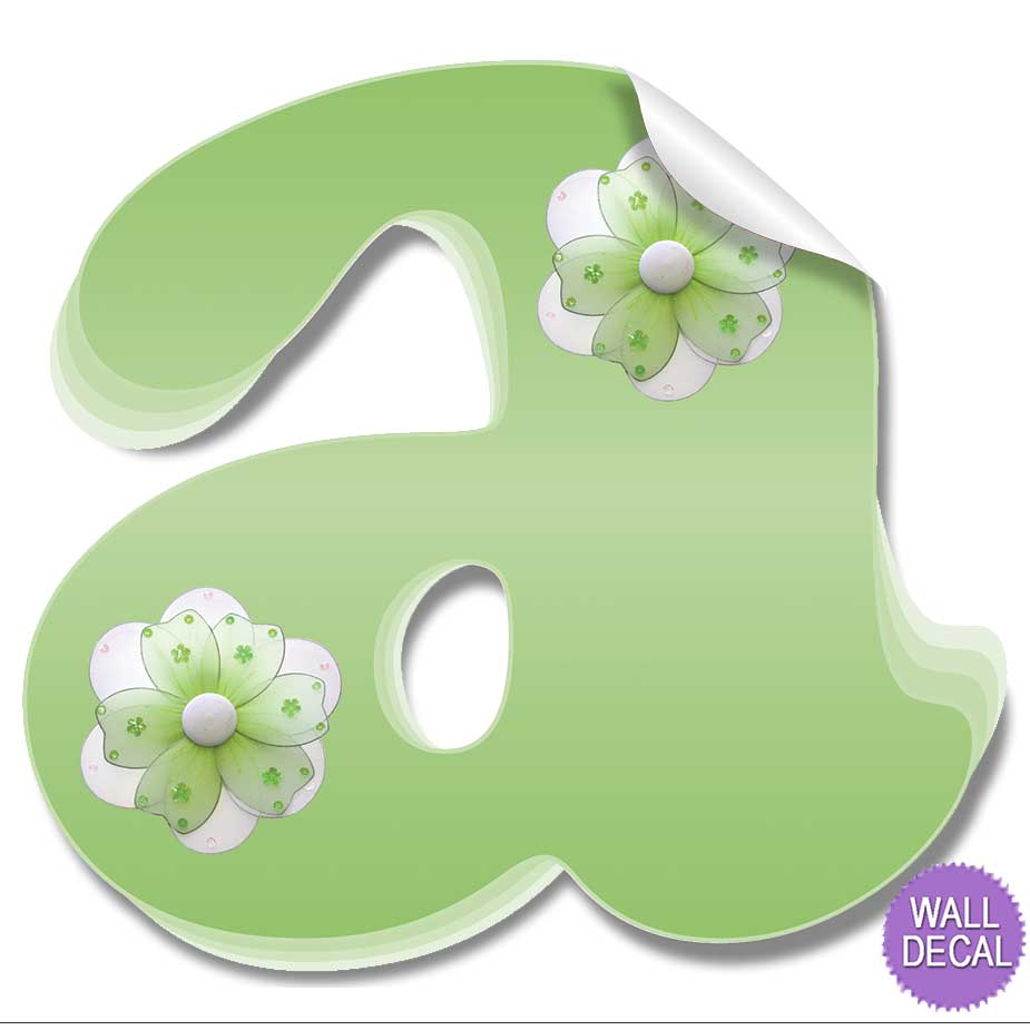wall letter alphabet initial sticker vinyl stickers decals name click to view a