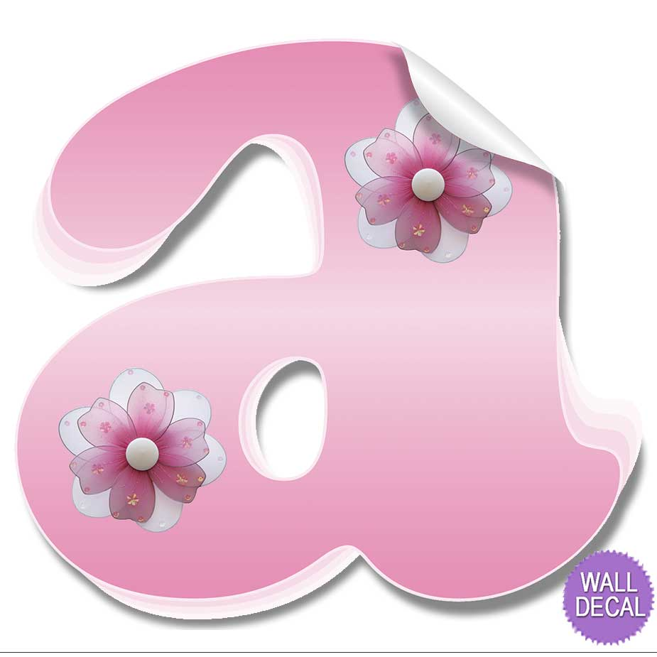 Name Wall Letters Alphabet Stickers Initial Decals Girls ...