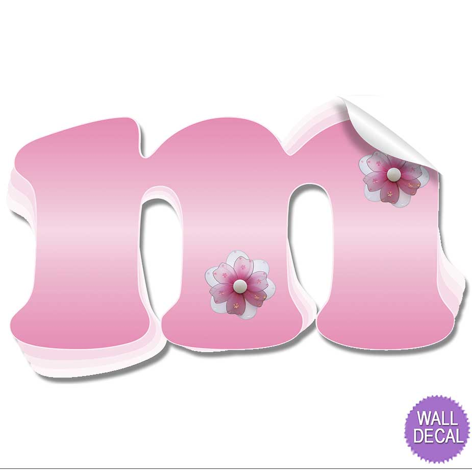 Name Wall Letters Alphabet Stickers Initial Decals Girls
