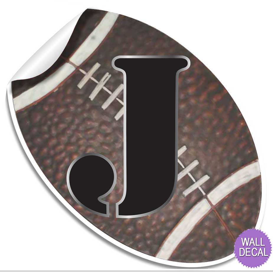 wall letter alphabet initial sticker vinyl stickers decals name sports football ebay. Black Bedroom Furniture Sets. Home Design Ideas