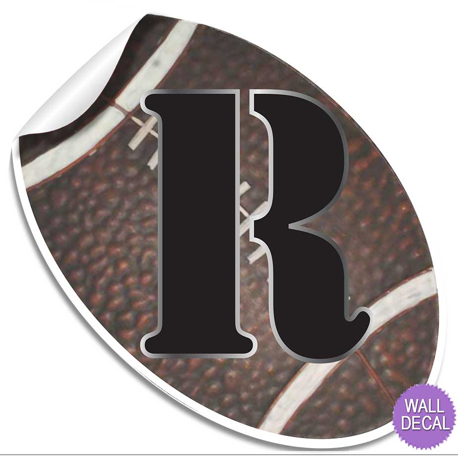 name wall letters alphabet stickers initial decals boys sports decor football ebay. Black Bedroom Furniture Sets. Home Design Ideas